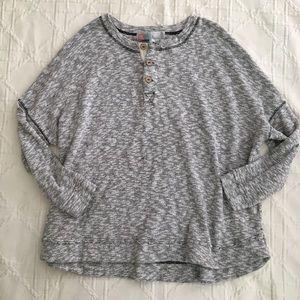 Free People Beach Henley Sweatshirt
